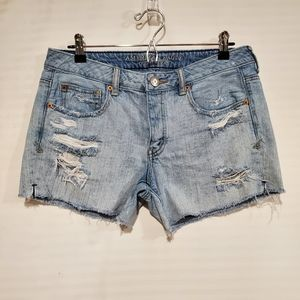 American Eagle distressed denim shorts size 8